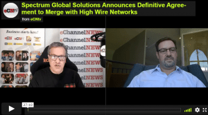 e-Channel News SGSI Agreement to Merge, Interview with High Wire Networks CEO
